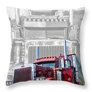 Old Skool-double Pete Throw Pillow