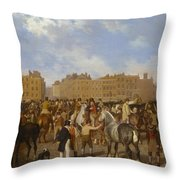 Old Smithfield Market Throw Pillow
