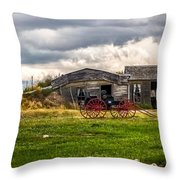 Old Sod Home Throw Pillow