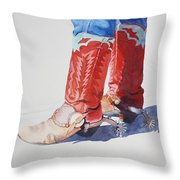 Old Soles Throw Pillow