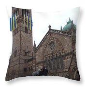 Old South Church Throw Pillow
