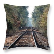 Old Southern Tracks Throw Pillow