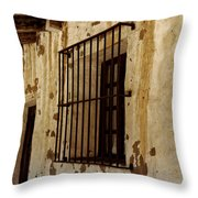 Old Spanish Mission Throw Pillow