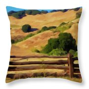Old Split Rail Fence Throw Pillow by Michael Pickett