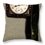 Old Square Clock Throw Pillow