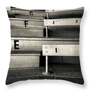 Old Stadium Bleachers Throw Pillow