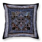 Old Stain Glass Window Throw Pillow