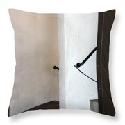 Old Stair Abstract Throw Pillow