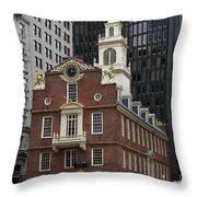 Old State House - Boston Throw Pillow