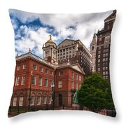 Old State House Throw Pillow