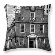 Old State House In Boston Throw Pillow