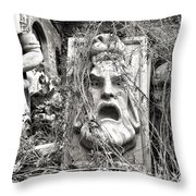 Old Statues In Skopje Throw Pillow