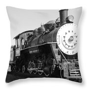 Old Steam Engine Throw Pillow