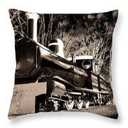 Old Steam Train Throw Pillow
