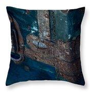 Old Steamer Trunk Throw Pillow