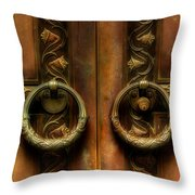 Old Steel Door Throw Pillow