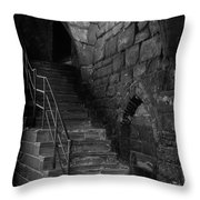 Old Steps In Chester England Throw Pillow