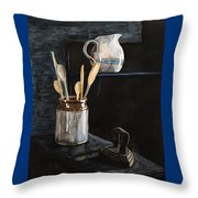 Old Still Life Throw Pillow