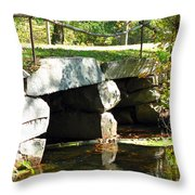 Old Stone Bridge Throw Pillow by Barbara McDevitt