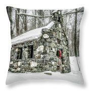 Old Stone Chapel Stowe Vermont Throw Pillow
