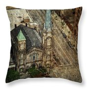 Old Stone Church Throw Pillow