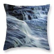Old Stone Fort Waterfall Throw Pillow