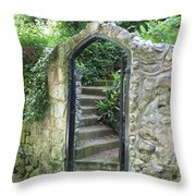 Old Stone Gate Throw Pillow