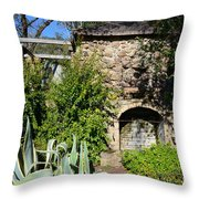 Old Stone Hearth And Fireplace Throw Pillow