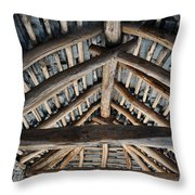 Old Stone Roof Throw Pillow