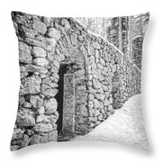Old Stone Ruins  Throw Pillow