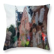 Old Street Cafe Throw Pillow