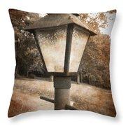 Old Street Lamp Throw Pillow