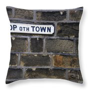 Old Street Sign Throw Pillow