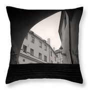 Old Streets In Prague Throw Pillow