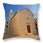 Old Streets Of Novalja Town Throw Pillow