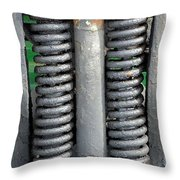 Old Style Vehicle Suspension Throw Pillow