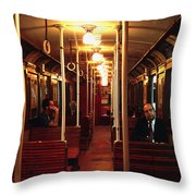 Old Subway In Buenos Aires Throw Pillow