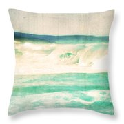Old Surf Throw Pillow