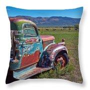 Old Taos Pickup Truck Throw Pillow