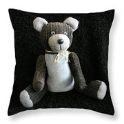 Old Teddy Bear Veijo Throw Pillow