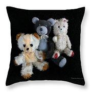 Old Teddy Bears Throw Pillow