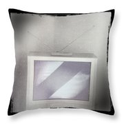Old Television Throw Pillow