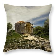 Old Temple Throw Pillow