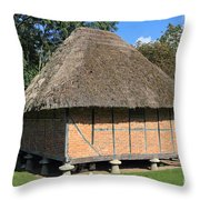 Old Thatched Barn Britain Throw Pillow
