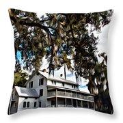 Old Thursby Plantation House Throw Pillow