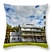 Old Thursby Plantation House Two Throw Pillow