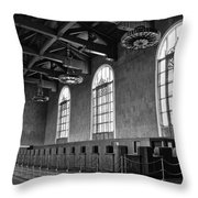 Old Ticket Counter At Los Angeles Union Station Throw Pillow