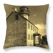 Old Time East Point Light Throw Pillow