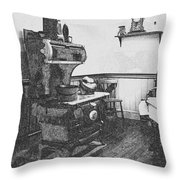 Old Time Farm Kitchen Throw Pillow