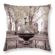 Old Time Fountain Throw Pillow